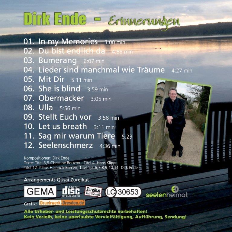 Album Erinnerungen Cover Rückseite