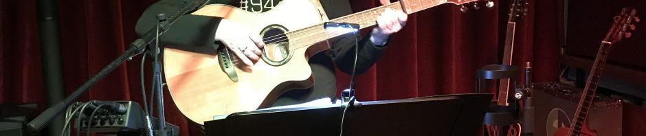 Dirk Ende Soundcheck im Theater Crimmitschau Konzert vom 23.11.2018